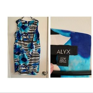 Blue floral/Stripe Alyx Dress